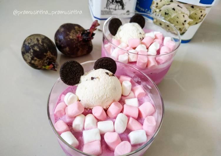Milk Beetroot Marshmello