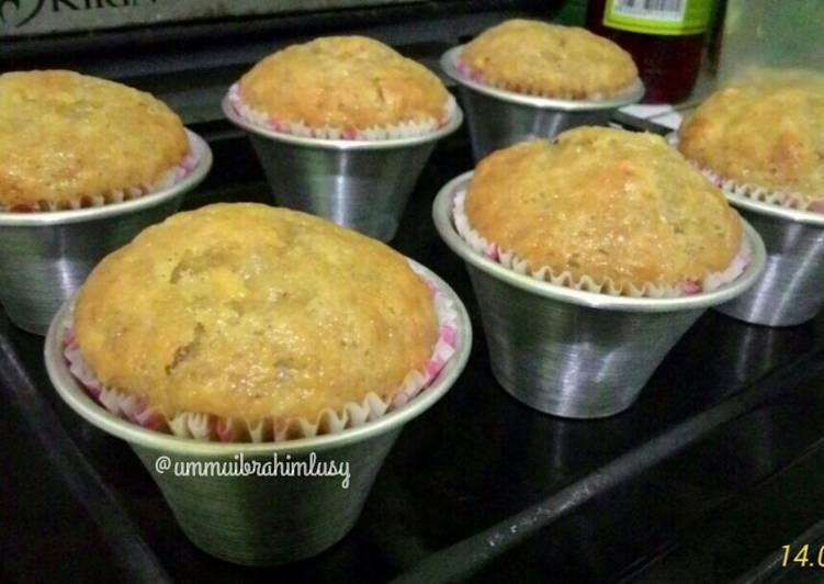 Muffin Pisang (no telur, no susu, no mixer)