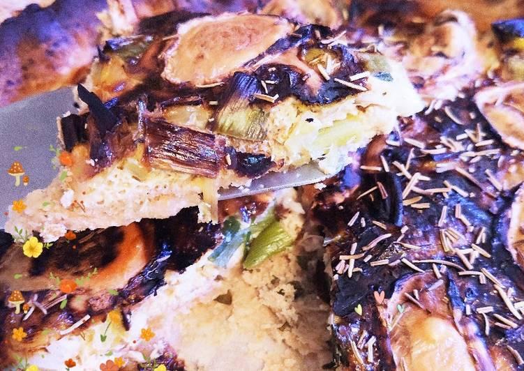 Recipes  Quiche poireau, chèvre et miel