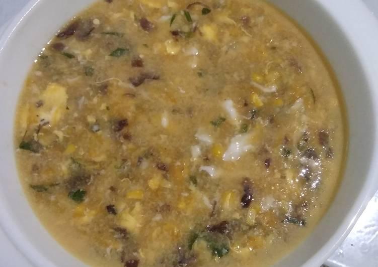 Sup Jagung Telor Jamur