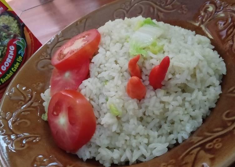 Nasi Goreng Bumbu Racik Sambel Cabe Ijo