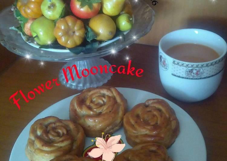 Mooncake Flower - isi kacang merah