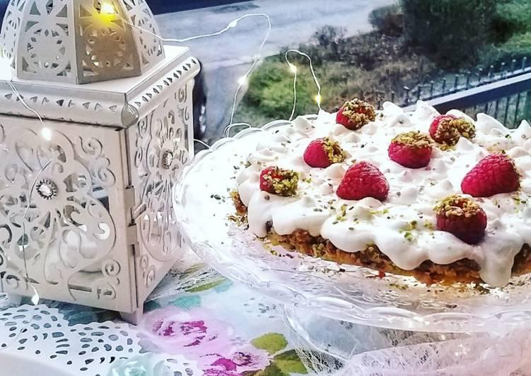 Kachtalia crèmeuse à la verveine, eau de fleur d'oranger et crème de coco🍓🥥🍰