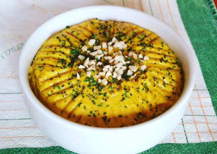 Hummus de garbanzos y anchoas a la cúrcuma