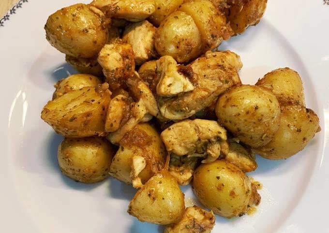Mijoté de pommes de terre Poulet & Oignons rouge