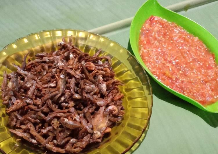 Ikan wader goreng sambal goang
