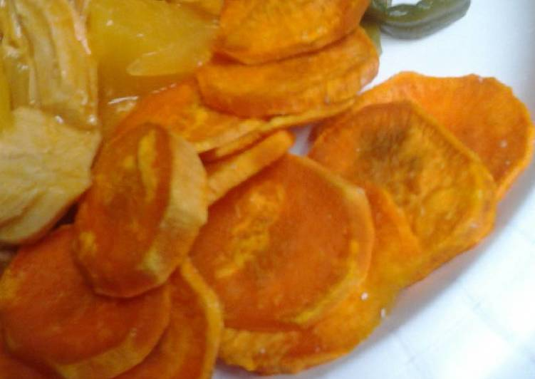 Super easy sweet potato chips