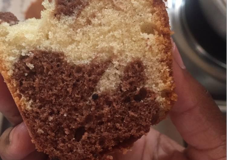 Fluffy Vanilla marble cake