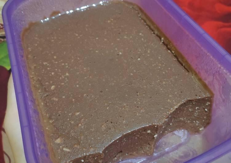 Puding Coklat Keju Roti Tawar