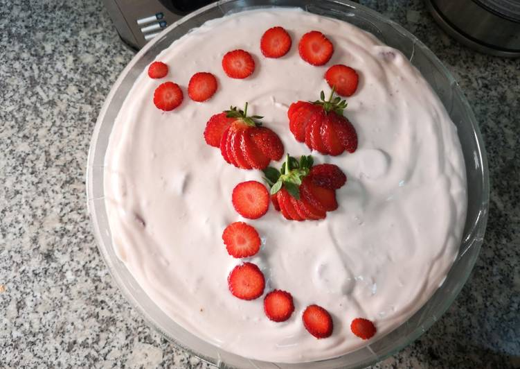 Step-by-Step Guide to Prepare Quick Strawberry Dessert #sahdessert