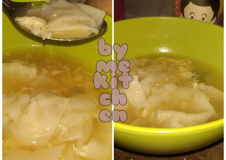 Siomay udang Kuah telur