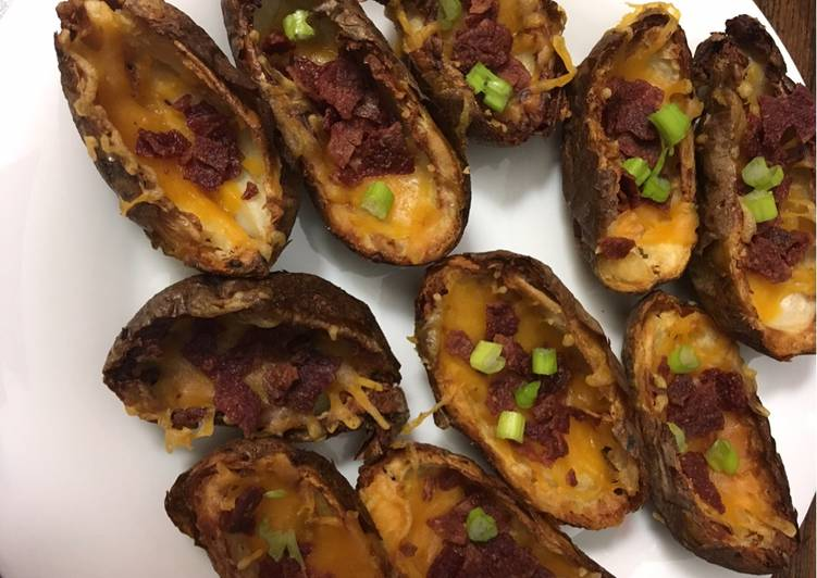 Recipe: Yummy Air fried potato skins