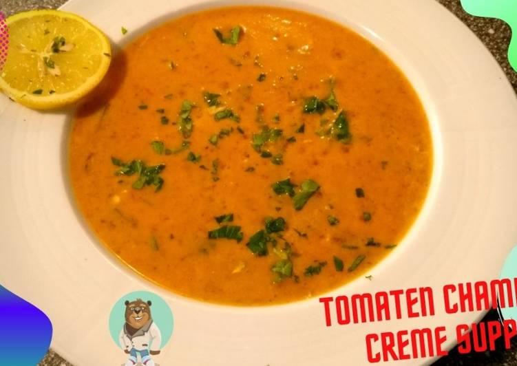 Tomaten-Champignon-Creme-Suppe