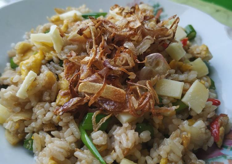 Resep Nasi goreng keju Paling Joss