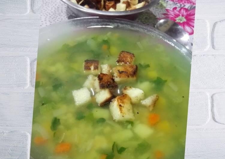 Sopa espirituosa de vegetales
