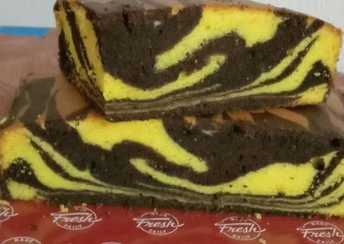 Kek marble mangga coklat