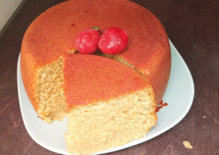 Stove baked lemon cake