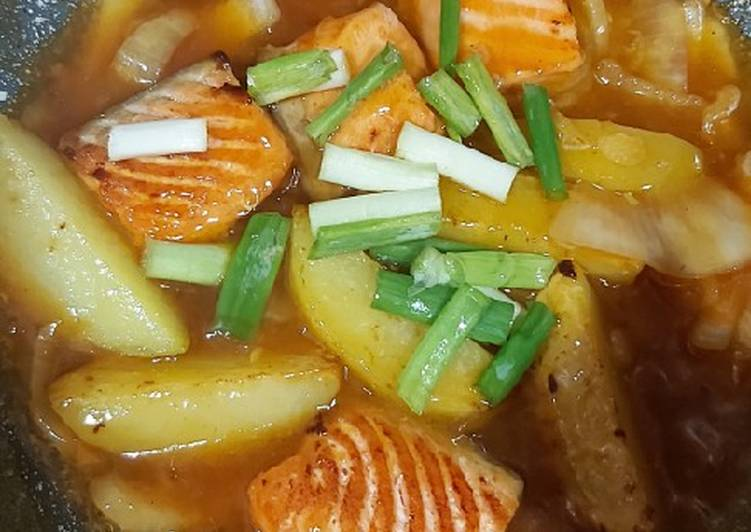 Salmon kentang saus mentega mpasi 1yo