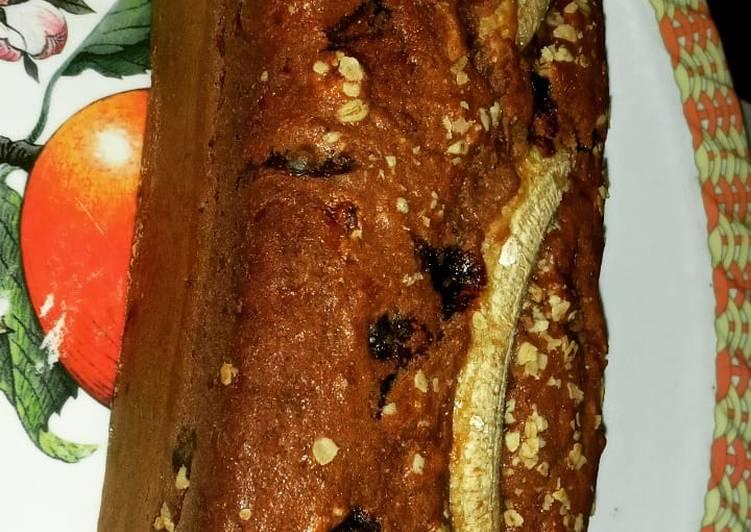 Banana and oats bread