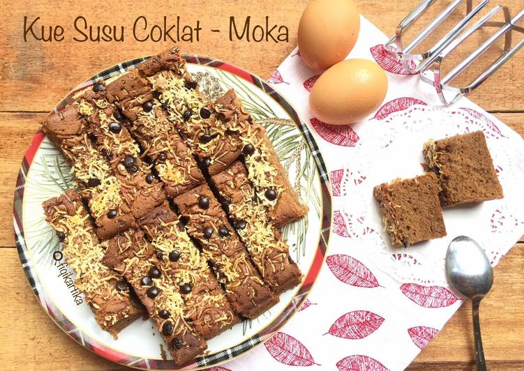 Resep Kue Susu Coklat Moka Oleh Fiqikartika Cookpad