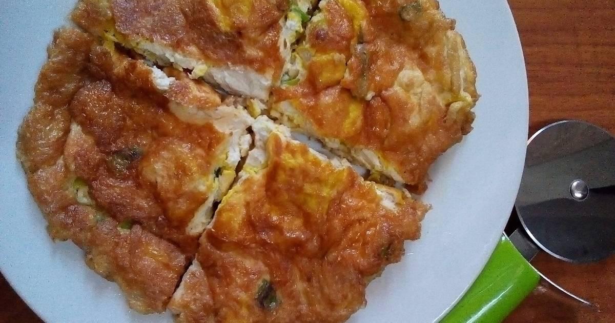 Resep Telur Dadar Mix Tahu Dadu Oleh Ge Adhian Cookpad