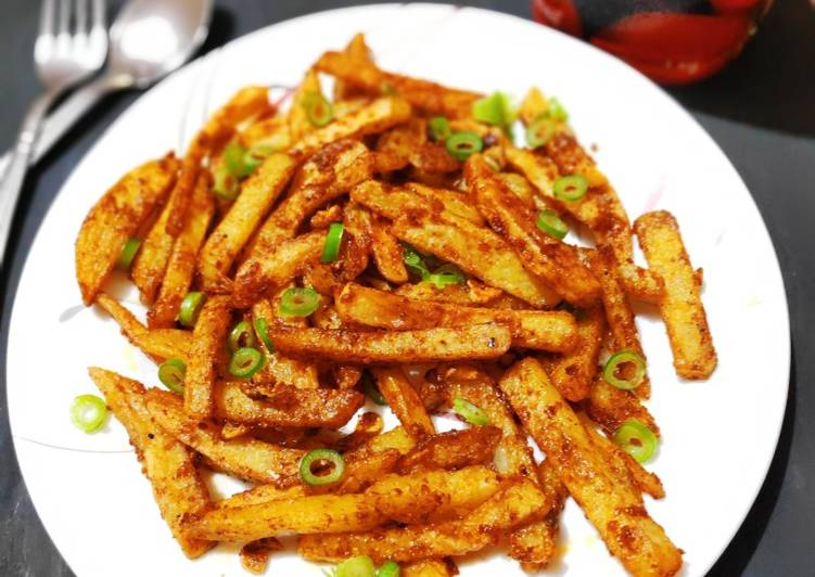 Simple Way to Prepare Favorite Spicy finger chips