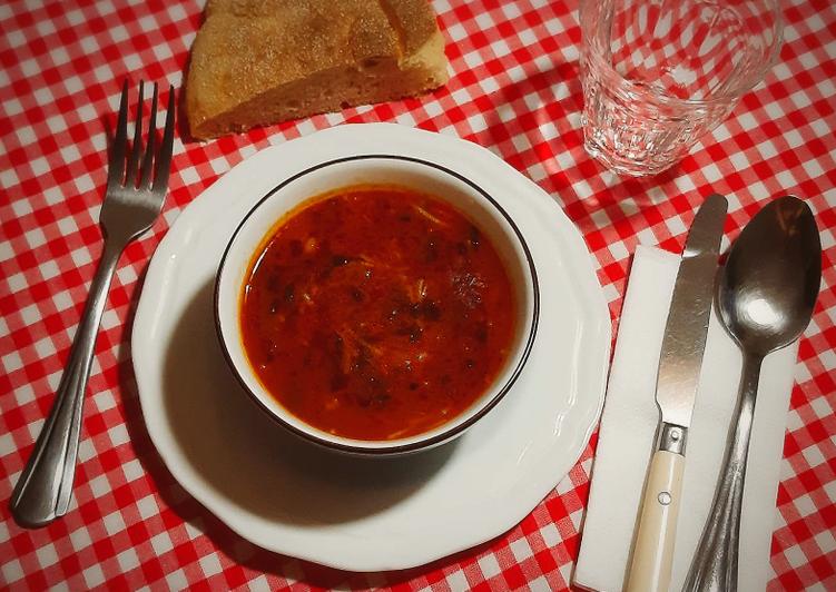 Comment faire Cuire Délicieuse Soupe a la tomate et vermicelle 🍴