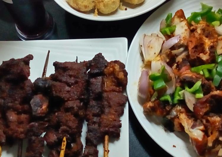 Recipe of Award-winning Steak meat,liver n kidney