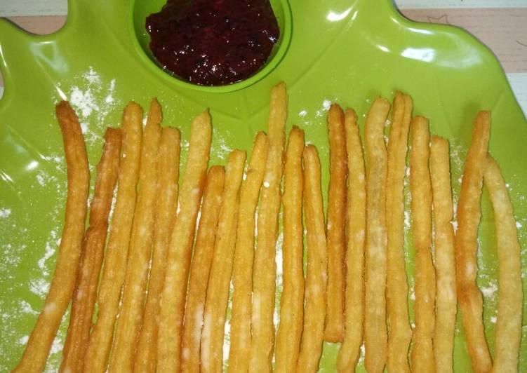 Churros mini (1 telor, tanpa mixer)
