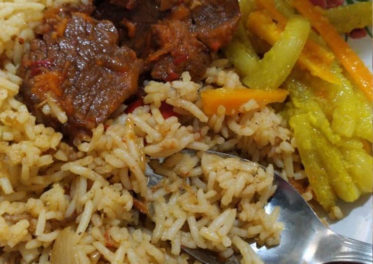 Nasi Biryani Sapi sederhana
