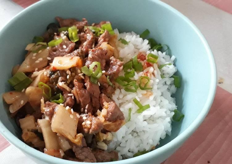 23. Daging sapi tumis kimchi