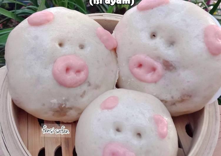Resep Bakpao Karakter (Piggy Pao) Paling Mudah