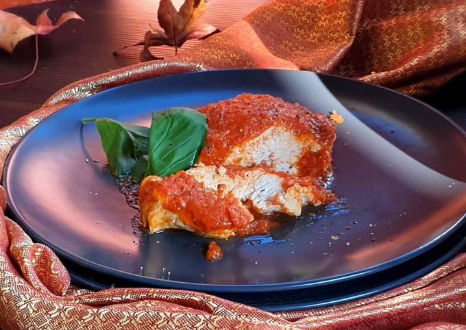 Pollo al pomodoro in vasocottura