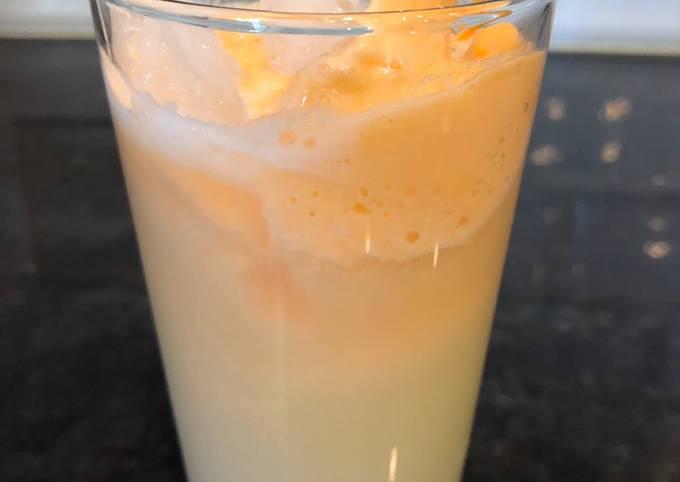 Quick instant lemonade orange sherbet
