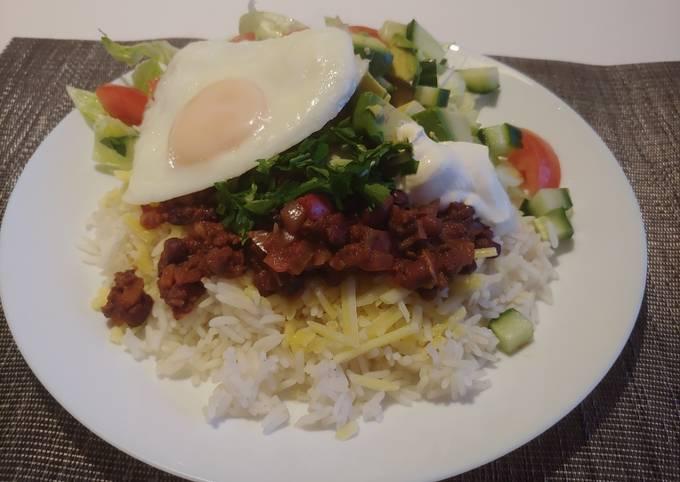 Mushroom chilli one plate dinner #cookwithcookpad
