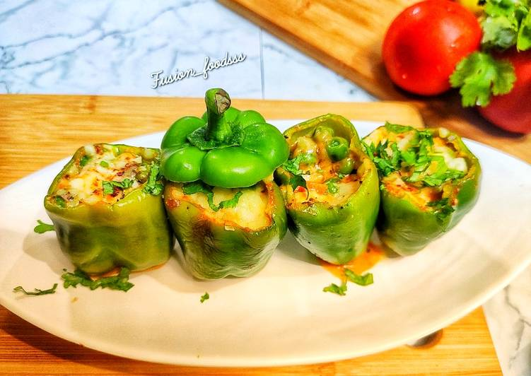 Recipe: Yummy Vegan stuffed bell peppers