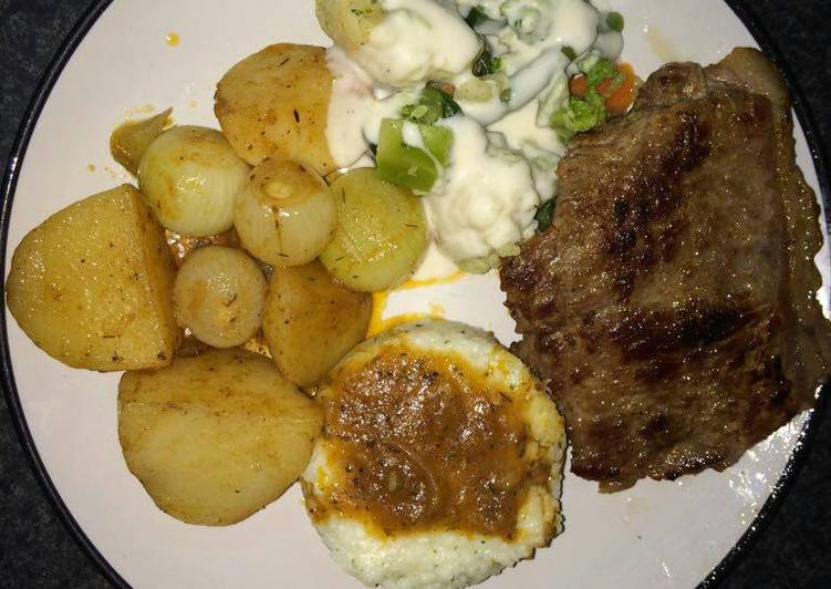Simple Way to Prepare Perfect Tasty potatoes and meat