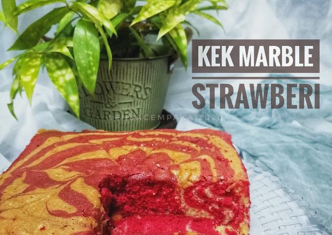 Kek Marble Strawberi