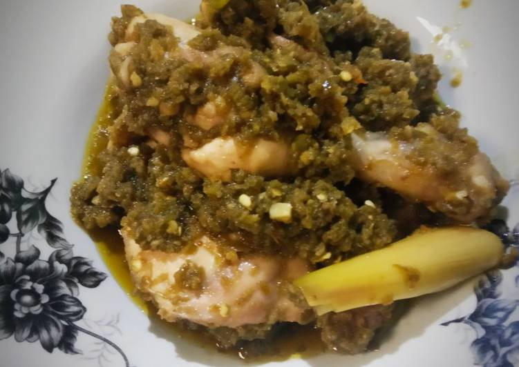 Resep Ayam Lado Mudo/ Ayam Cabe Ijo Khas Minang Ekstra Pedas Yang Simple Bikin Nagih