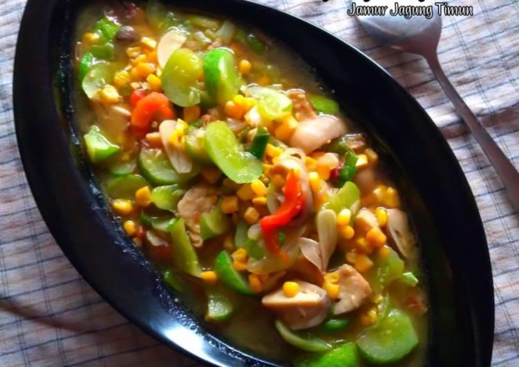 #Capcay jajati Polos(jamur jagung timun)