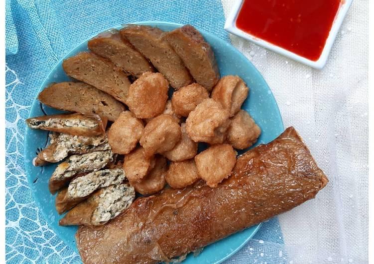 Bakso Tiram + Tahu Gulung Vegan Handmade