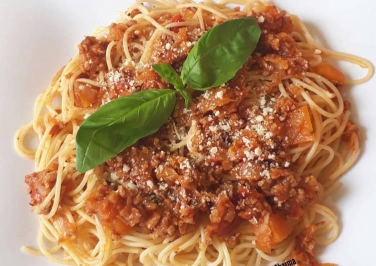 Vegetarian Bolognese Spaghetti
