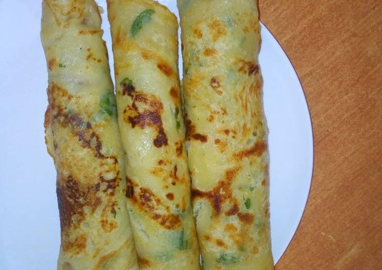 Coriander pancakes