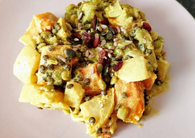 recette Curry de légumes et légumineuses. (vegan) délicieux