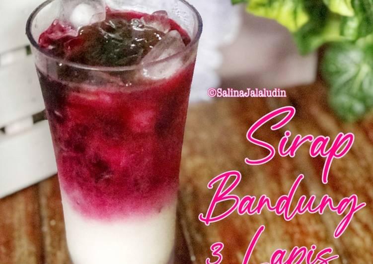 Sirap Bandung 3Lapis - resepipouler.com