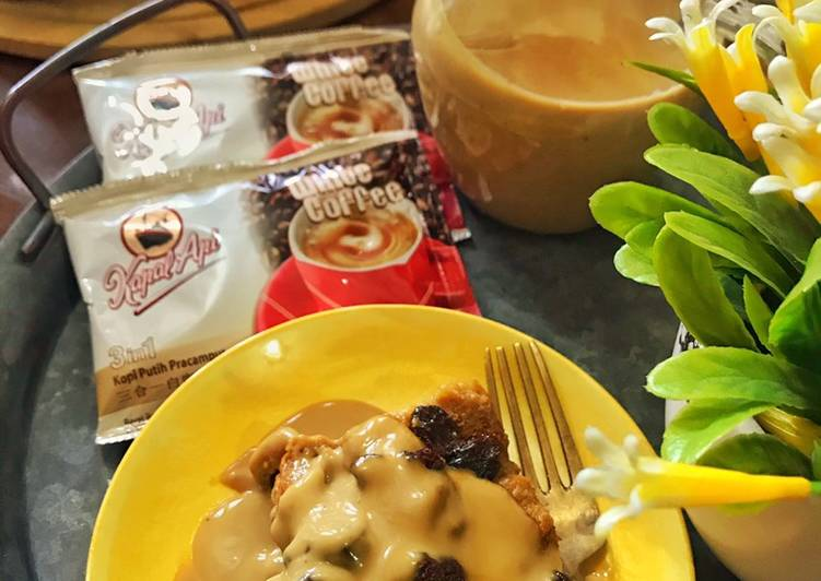 Puding Roti White Coffee bersama Sos White Coffee - velavinkabakery.com
