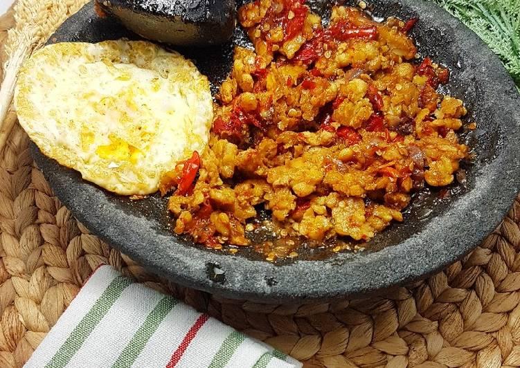 Sambel tempe (enak wajib coba)