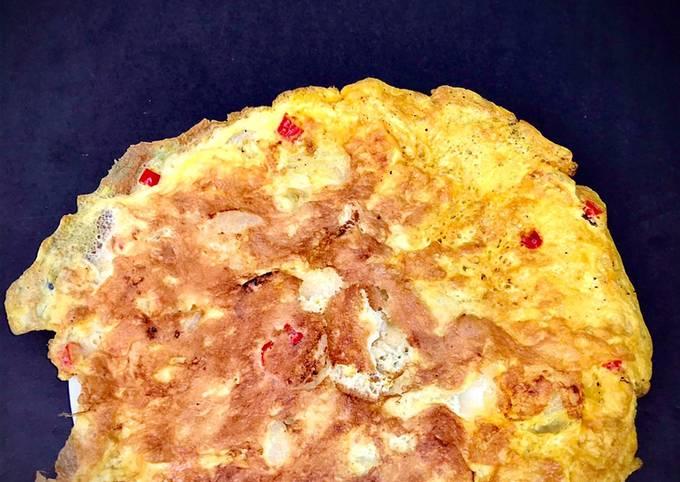 Telur dadar bawang cili