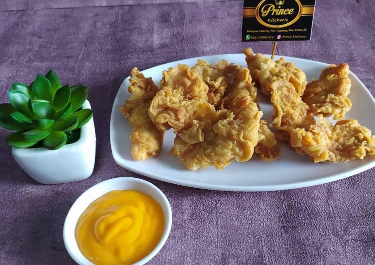 Ayam fillet crispy saus keju
