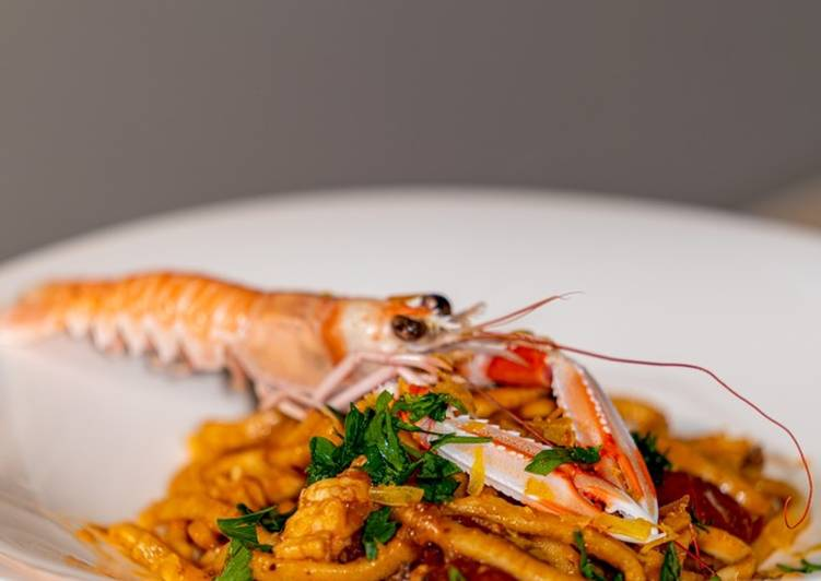 Easiest Way to Prepare Appetizing Fresh Senatore Cappelli Pasta with Scampi Sauce